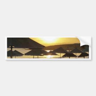 Salida del sol con la playa de Grecia Pegatina Para Coche