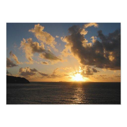 """Salida del sol con las nubes San Martín Invitación 5"""" X 7"""""""