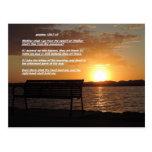 salida del sol con verso de la biblia postal