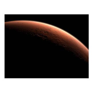 Salida del sol creciente en Marte el planeta rojo Tarjetas Postales