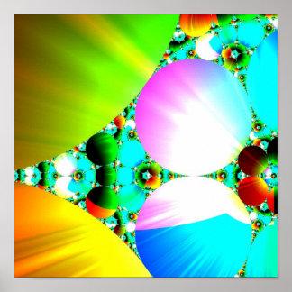 Salida del sol cristalina - arco iris abstracto de impresiones