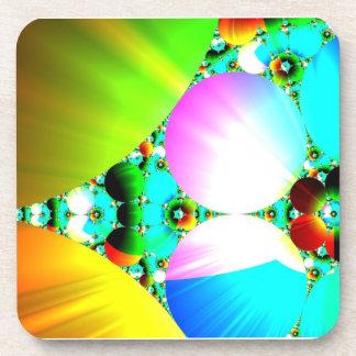 Salida del sol cristalina - arco iris abstracto de posavasos de bebidas