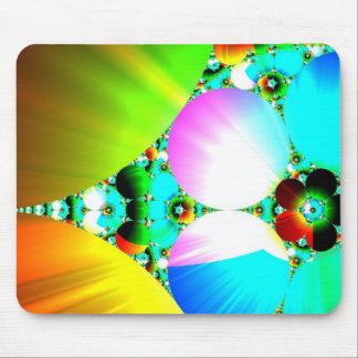 Salida del sol cristalina - arco iris abstracto de tapetes de ratones