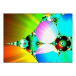 Salida del sol cristalina - arco iris abstracto de tarjeton