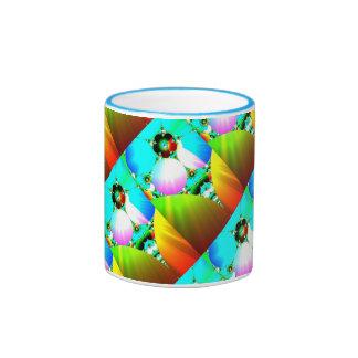 Salida del sol cristalina - arco iris abstracto de tazas