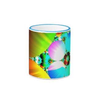 Salida del sol cristalina - arco iris abstracto de tazas de café