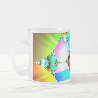 Salida del sol cristalina - arco iris abstracto de taza de café