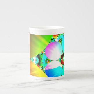 Salida del sol cristalina - arco iris abstracto de tazas de china