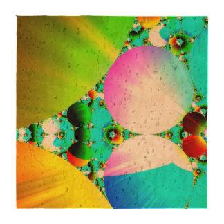 Salida del sol cristalina, arco iris abstracto del posavasos