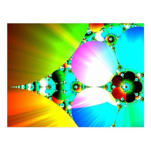 Salida del sol cristalina - arco iris abstracto postales