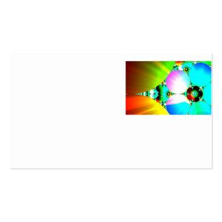 Salida del sol cristalina - arco iris abstracto tarjetas de visita