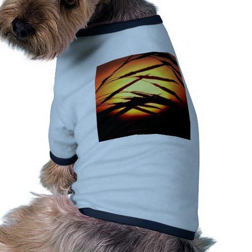 Salida del sol cubierta de rocio Oakland Michigan  Camisa De Mascota
