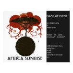 Salida del sol de África adaptable Tarjetas Informativas