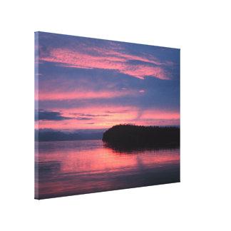 Salida del sol de Alaska Lona Envuelta Para Galerías
