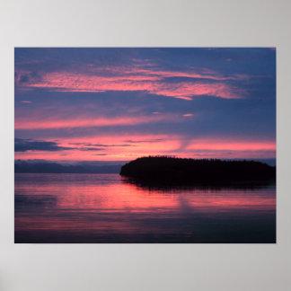 Salida del sol de Alaska Póster