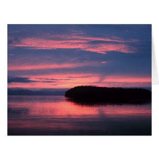 Salida del sol de Alaska Tarjeta De Felicitación Grande
