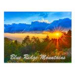 Salida del sol de Blue Ridge Mountains Postal