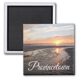 Salida del sol de Cape Cod, Provincetown Imán Cuadrado
