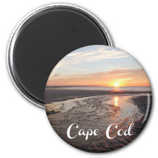 Salida del sol de Cape Cod, Provincetown Imán Redondo 5 Cm