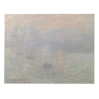 Salida del sol de Claude Monet, arte de la Blocs De Notas