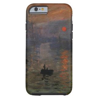 Salida del sol de Claude Monet, arte de la Funda De iPhone 6 Tough