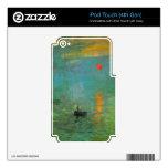 Salida del sol de Claude Monet iPod Touch 4G Skins