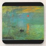 Salida del sol de Claude Monet Posavasos De Bebidas