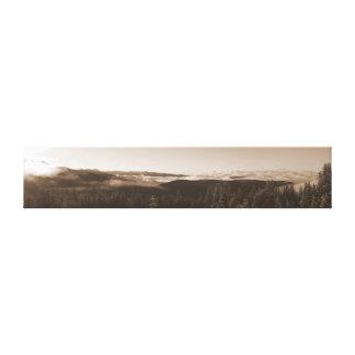 Salida del sol de Colorado Impresión En Lona Estirada