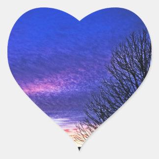 Salida del sol de Colorfun en Cincinnati Pegatina De Corazón Personalizadas