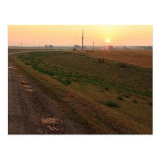 Salida del sol de Dakota del Norte Postal