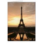 salida del sol de Eiffel Tarjeta