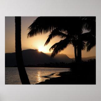 Salida del sol de Fiji Póster