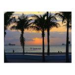 Salida del sol de Fort Lauderdale Tarjetas Postales