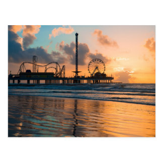 Salida del sol de Galveston Tarjetas Postales