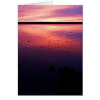 Salida del sol de Gogebic del lago Tarjeta De Felicitación