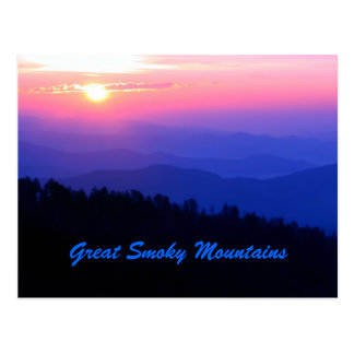 Salida del sol de Great Smoky Mountains Tarjetas Postales