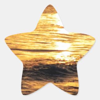 Salida del sol de Grecia Colcomanias Forma De Estrellaes