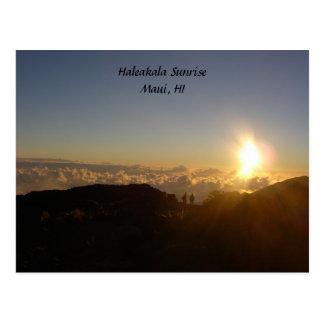 Salida del sol de Haleakala Tarjetas Postales