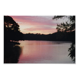 Salida del sol de Hartwell del lago Poster
