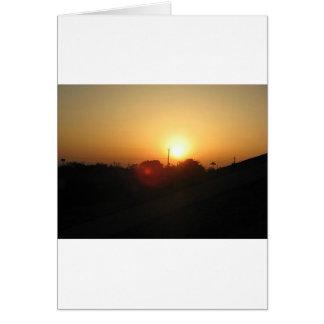 salida del sol de Houston Tarjeta