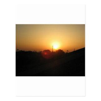 salida del sol de Houston Tarjeta Postal