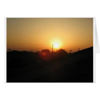 salida del sol de Houston Tarjetón