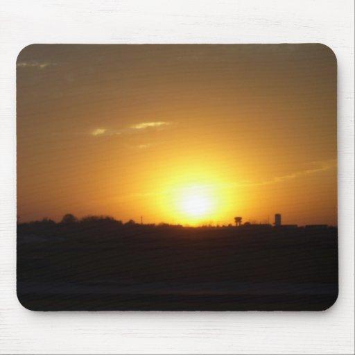Salida del sol de Iowa Alfombrilla De Raton