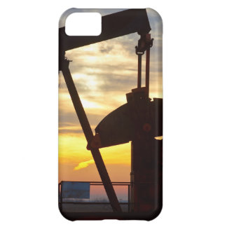 Salida del sol de Jack de la bomba del pozo de pet Funda Para iPhone 5C