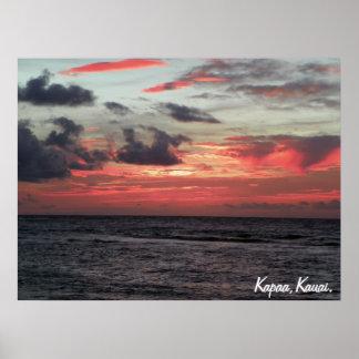 Salida del sol de Kapaa Impresiones