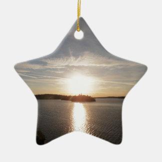 Salida del sol de la bahía de Clearwater Adorno Navideño De Cerámica En Forma De Estrella