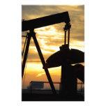 Salida del sol de la bomba de aceite papelería personalizada