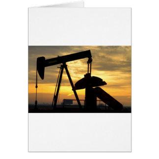 Salida del sol de la bomba de aceite tarjetas