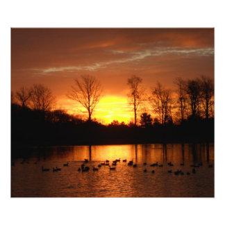 salida del sol de la caída fotografías