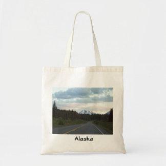 Salida del sol de la carretera de Alaska Bolsa Tela Barata